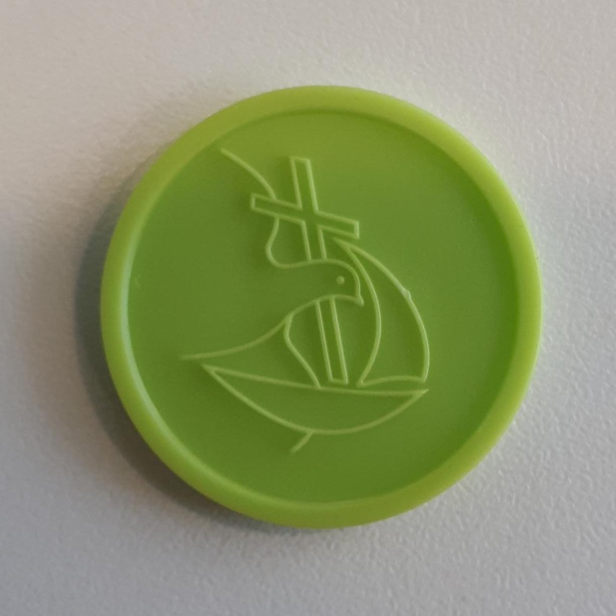 collectemunt-groen-duif-en-schip